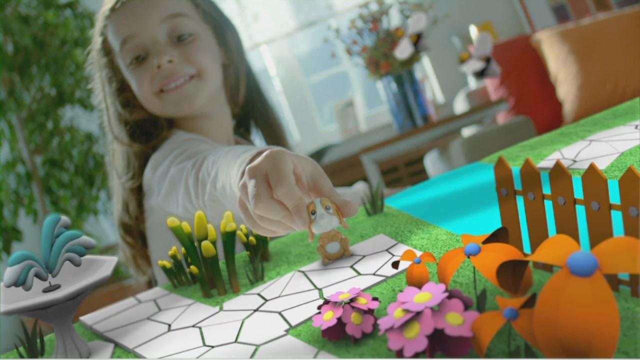 Kinder bambina con set 3d vista 2