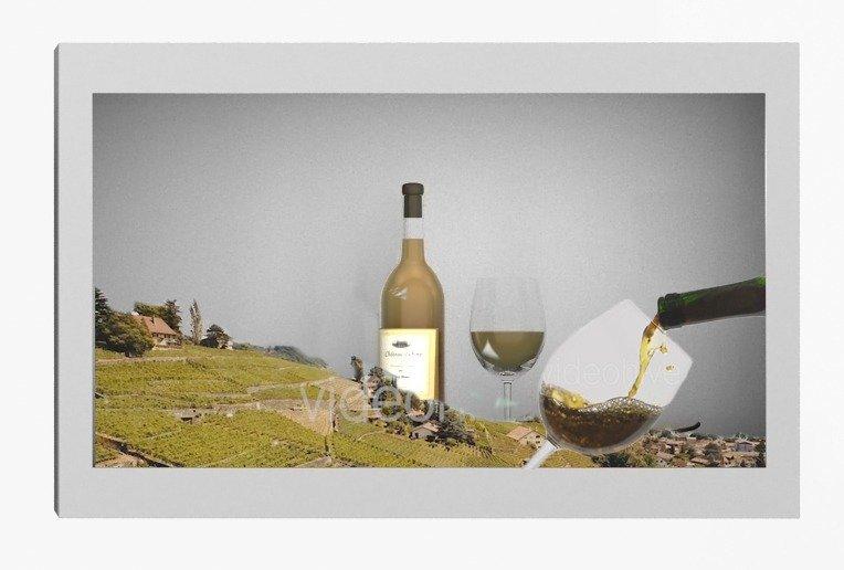 Lcd trasparente con vino