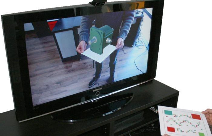 App realtà aumentata pompa chiusa