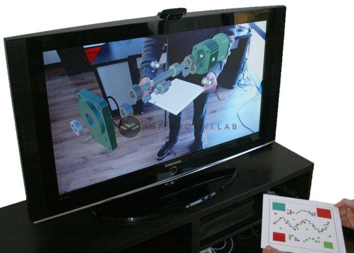 App realtà aumentata pompa aperta