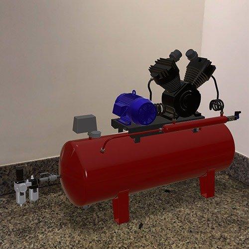 modello in webar di un compressore per industria