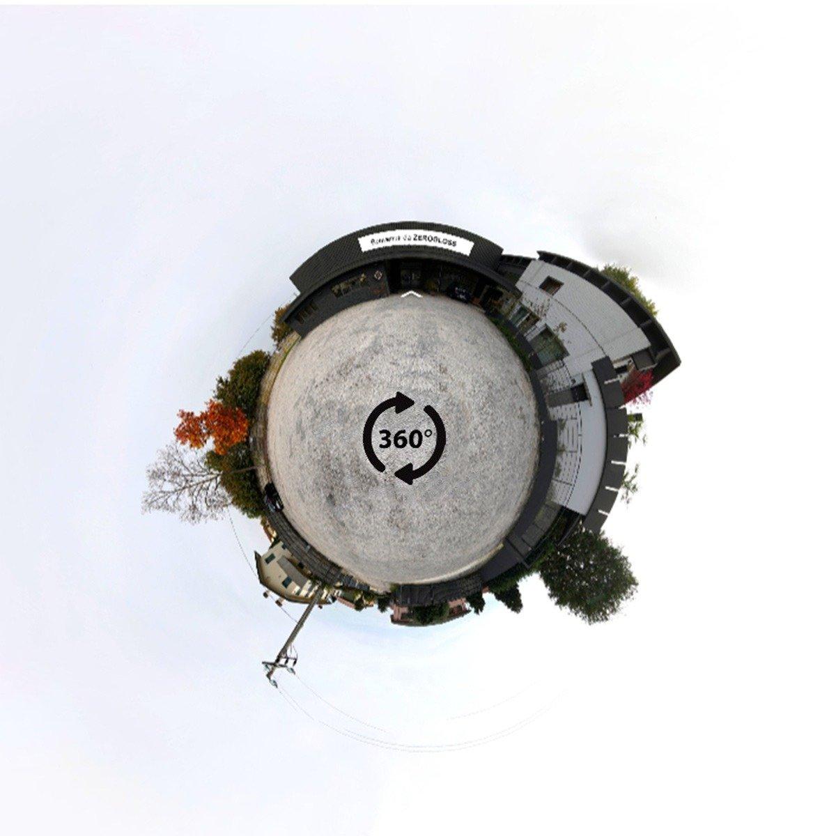 logo tour virtuale 360 rendering.