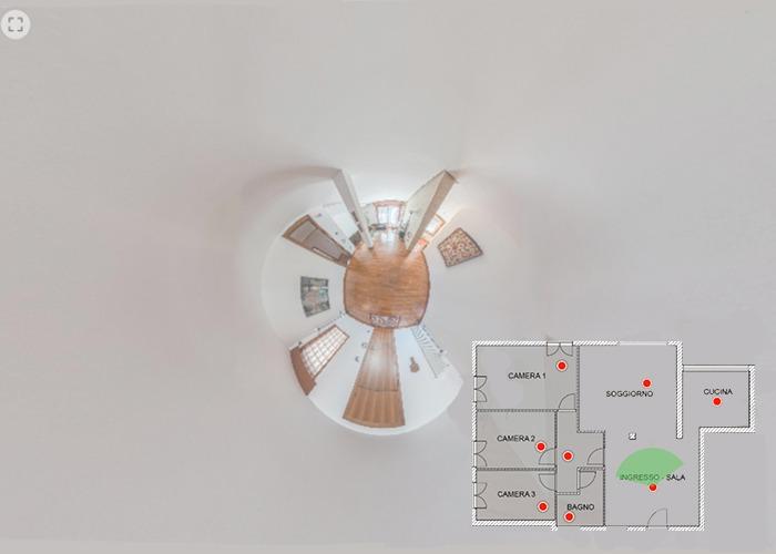 virtual tour interattivo con elementi grafici