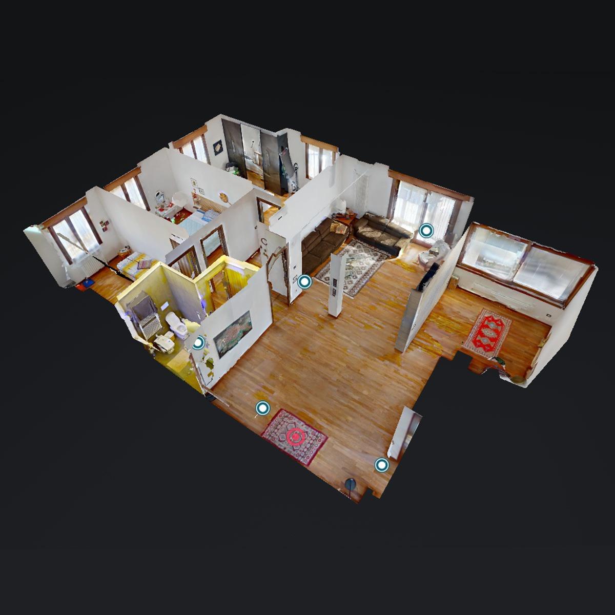 scansione 3d appartamento con matterport