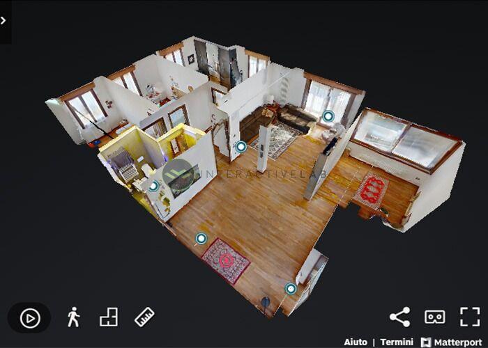 virtual tour 3d generato dalla piattaforma matterport