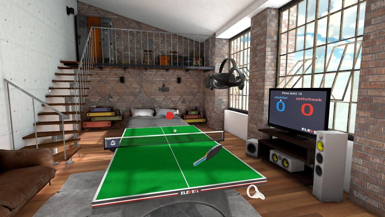 table tennis immagine gioco in vr